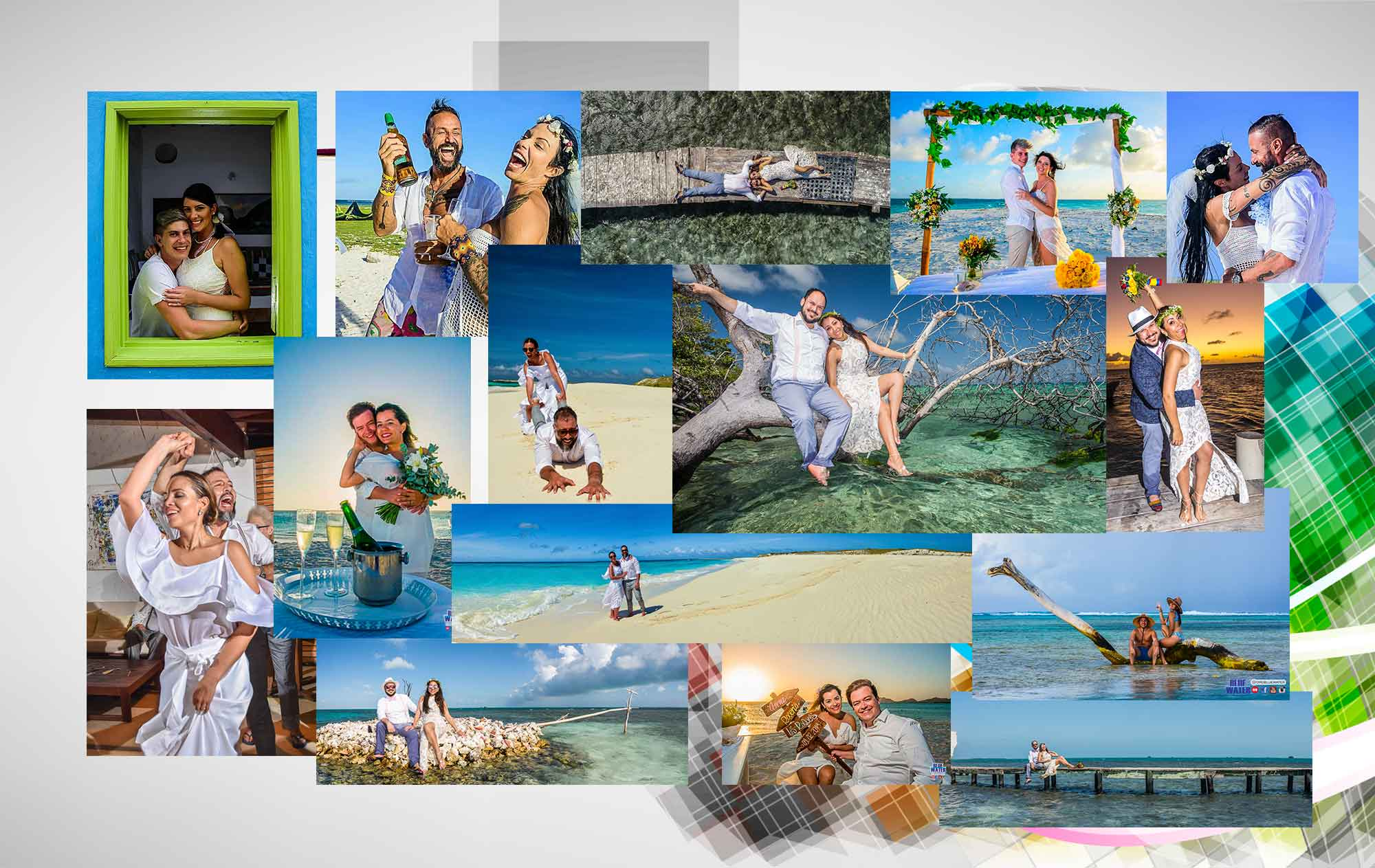 colagge-bodas-Los-Roques-Wedding-Boda-Playa-Caribe-WeddingPhotography-